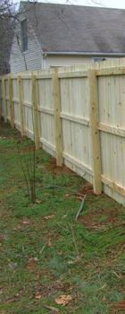 Gastonia NC wood privacy fence
